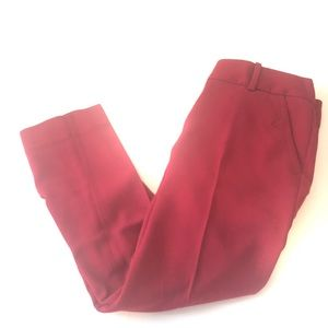 The Limited red pants size 0 petite